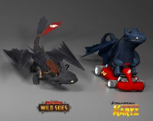 Showing the Toothless models from various games