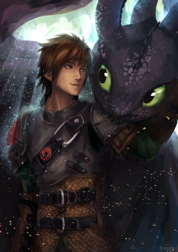 Inseparable - Hiccup and Toothless - by ElinTan
