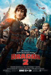 Poster of the second How to Train Your Dragon movie