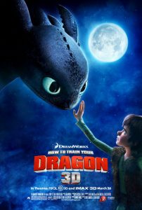 Poster of the first How to Train Your Dragon movie