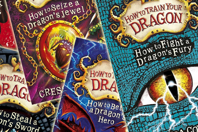 Original How to Train Your Dragon book covers