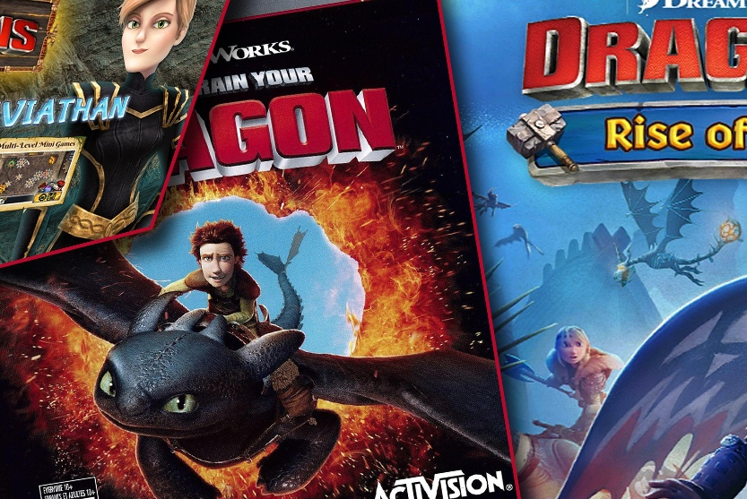 Covers of Dreamworks Dragons games