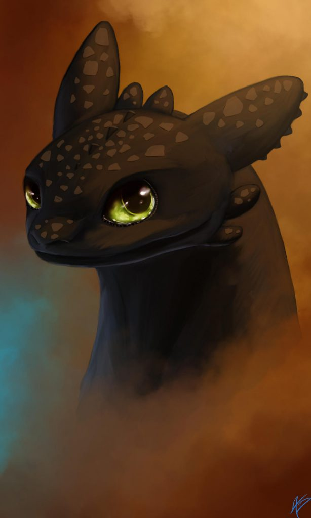 Portrait of Toothless